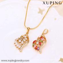 31306 Xuping moda jóias banhado a ouro pingente com muitos Zircon