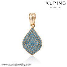 33108 Fluorescence Turquoise jewelry wholesale water drop Dubai gold necklace pendant