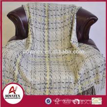 Vente chaude tissu acrylique tissé jeter couverture en gros