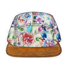 Design Sie gewann Blumen 5 Panel Hut