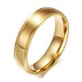 CZ Кристалл золото обручальное обручальное кольцо из нержавеющей стали пара кольцо