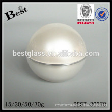 15/30/50/70g pearl white egg shaped acrylic jar with lid,cream jar for sale,personal care face care cosmetic packaging jar