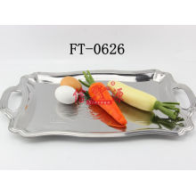 Stainless Steel Flower Decorative Design Tray (FT-0626)