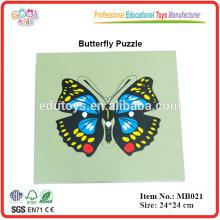 Montessori Tier - Schmetterling Puzzle