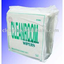 Les lingettes de salle blanche de haute qualité 100% polyester essuient le tissu d'essuyage