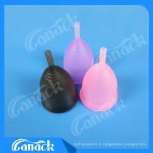 Tasse menstruelle de silicone de catégorie médicale pour le soin personnel d'hygiène de Madame