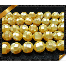 Perles de perles de perles jaunes, Fashion Puzzle Mother of Shell Pearl Beads (APS022)