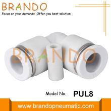 Coude union 1/4 '' attache rapide pneumatique enfichable