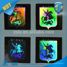 Kundenspezifische Design-Matrix-Hologramm-Siegel Etikettenaufkleber für Hut und Kleidung, hologrischer Logo-Aufkleber Anti-Fälschung