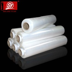 Strong Anti-Pressure 12-35mic LLDPE Handle Rolls Wrap Film