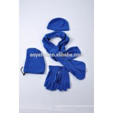 guante polar de la bufanda del sombrero del invierno polar del paño grueso y suave