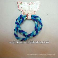 голубой эластичный шнур, шнур для волос
