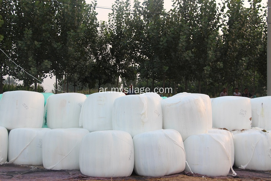 أبيض اللون Silage Wrap Film High Tack