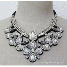 Lady Fashion White Glas Kristall Anhänger Halskette Modeschmuck (JE0208)