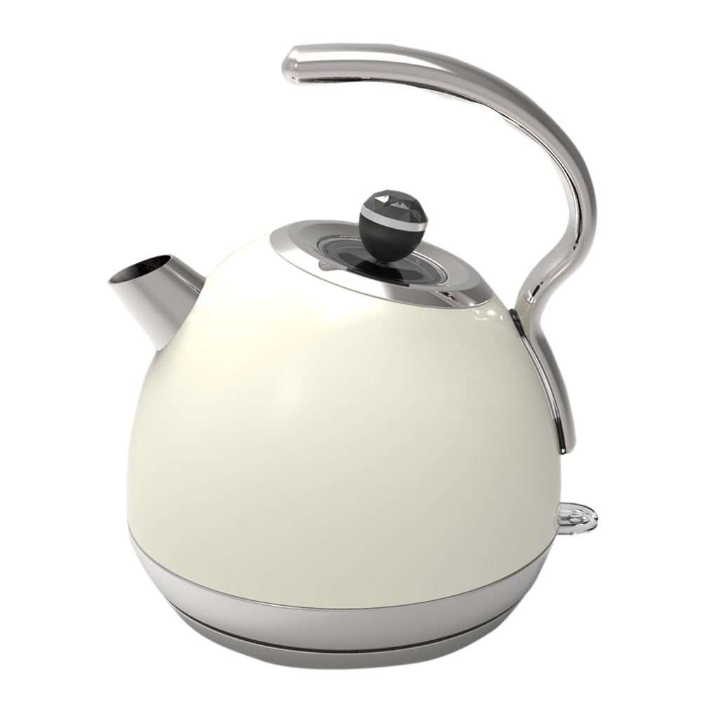 Painting White With Long Handle Electric Kettle