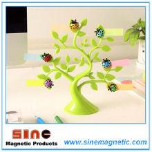 Marienkäfer Kühlschrankmagnete Mitteilung-glücklicher Baum