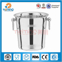 cheap round printed stainless steel wine bucket