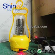 Fonte verde design popular levou lanterna campismo lanterna solar à prova d'água
