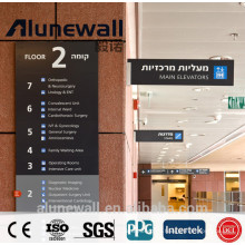 High Quality Antibacterial Hospital Wall Use Aluminium Composite Panel 2 Meters Width