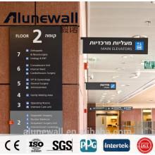 Panneau composé en aluminium antibactérien de haute qualité de mur d'utilisation de mur de 2 mètres de largeur