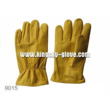 Gold Cow Grain Straight Thumb Driver Work Glove