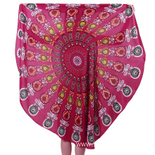 wholesale printing microfiber round towel beach