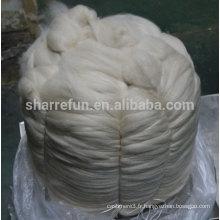 Sharrefun haute qualité 100% cachemire mongole tops gris clair 16.5mic / 46mm