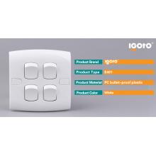 Instalação oculta Igoto E401 4 Interruptor de parede de grupo