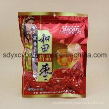 Größe maßgeschneiderte gesunde Snack Trockenfrüchte Kunststoffverpackungen mit Ziplock