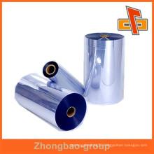 transparent blue heat sensitive PVC shrink wrap film