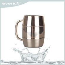Hot sale durable custom stainless steel beer mug with handle