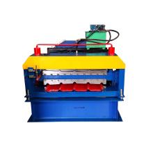 Doppeldecker-Stahlplattform-Dachtrapezplatte der heißen Verkaufsmetallfliese Rolle, die Maschine bildet