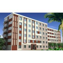 Apartamento de estructura de acero con certificación Ce (KXD-pH032)