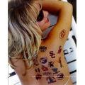 Getbetterlife kit de tatouage paillettes standard en gros, peignant le visage temporaty tatouage, 15 couleurs Body Art Glitter Tattoo Kit
