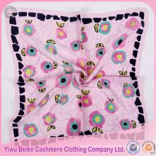New products OEM design silk screen printing soft silk scarf