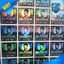 Promotion custom hologram sticker adhesive warranty holographic sticker label