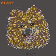 Mooie ontwerp gele hond warmteoverdracht steentjes
