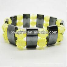 01B5009-6 / nuevos productos para 2013 / hematita spacer pulsera brazaletes / brazaletes hematita