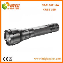 Factory Supply High Power Aluminum 3.7v 3 modes XPG 5W CREE LED Rechargeable Long Distance Torch With 18650 li-thium Battery