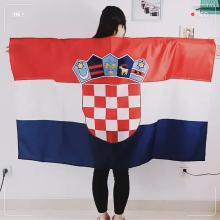 Nuevo diseño 100% poliéster impreso bandera del Cabo de Croacia