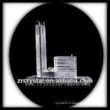 Magnifique modèle de bâtiment en cristal H033