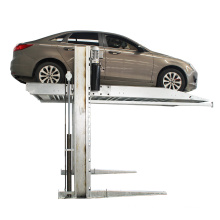 hydraulic two post car parking lift with two parking space