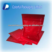 High quality stand up resealable plastic ziplock cosmetic bag/plastic bag for packaging cosmetic/eyes mask with air hole