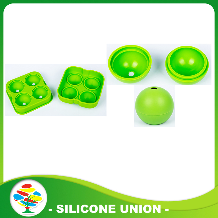 round green silicone ice mold