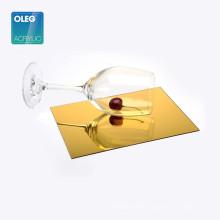 OLEG high gloss scrath resistance gold mirror acrylic sheet,4x8 mirror sheet