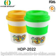 Cute Heat-Resistant Single Wall Plastic Coffee Mug (HDP-2022)