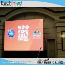 Stgae Rideau P6 LED extérieure affichage full hd location led mur / super mince LED écran