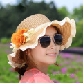 2015 New Fashion Casual Summer Wide Large Brim Cap Sweet Women Beach Straw Hat