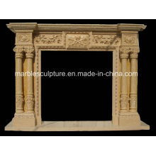 Hand Carved Antique Marble Fireplace (SY-MF156)