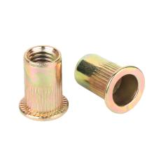 4.8 8.8 Yellow zinc nuts Flat head Carbon steel blind rivet nut